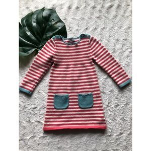 Baby Boden Striped Sweater Dress